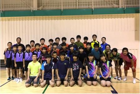 グループ練習 (フジイケJr卓球クラブ)