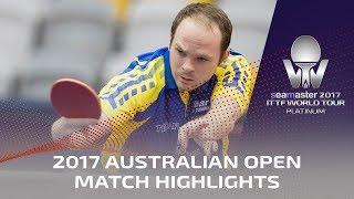 【動画】ドリンコール VS CHENG Zhiyang 2017シマスター2017 プラチナ、オーストラリアンオープン
