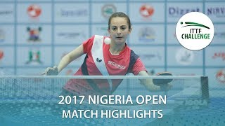 【動画】MESHREF Dina VS PICCOLIN Giorgia 2017 ITTFチャレンジ、ナイジェリアオープン 準々決勝