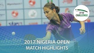 【動画】BALINT Bernadett VS PICCOLIN Giorgia 2017 ITTFチャレンジ、ナイジェリアオープン 決勝