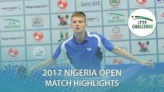 【動画】ANIMASAHUN Abayomi VS SIPOS Rares 2017 ITTFチャレンジ、ナイジェリアオープン ベスト16
