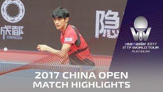 【動画】何鈞傑 VS 吉村和弘 シーマスター2017 プラチナ、中国オープン 準々決勝