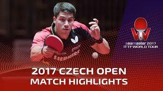 【動画】パトリック・フランチスカ VS CAO Wei 2017シマスター2017 チェコオープン