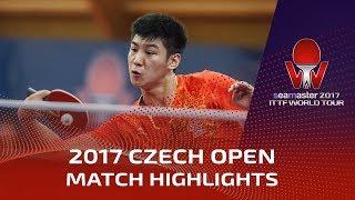 【動画】薛飛 VS KALLBERG Anton 2017シマスター2017 チェコオープン 準々決勝