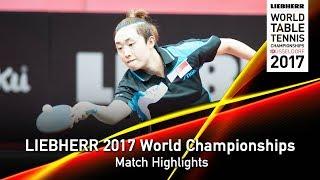 【動画】フォン・ティエンウェイ VS ジルバーアイゼン LIEBHERR 2017世界卓球選手権 ベスト16