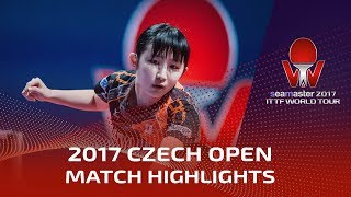 【動画】早田ひな VS 浜本由惟 2017シマスター2017 チェコオープン 準々決勝