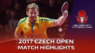 【動画】ティモ・ボル VS イェレル・パー 2017シマスター2017 チェコオープン 準々決勝