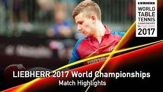 【動画】PLETEA Cristian VS OMOTAYO Olajide LIEBHERR 2017世界卓球選手権