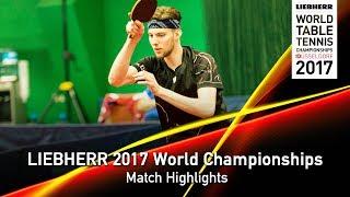 【動画】MEDJUGORAC Marko VS TODOROV Stefan LIEBHERR 2017世界卓球選手権