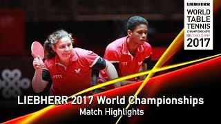 【動画】BELROSE Ocean・LE CAILL Tearo VS ベン・ヤヒア・GARCI Fadwa LIEBHERR 2017世界卓球選手権 ベスト128