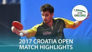 【動画】パナギオティス・ギオニス VS フロール 2017 ITTFチャレンジ、ザグレブオープン 決勝