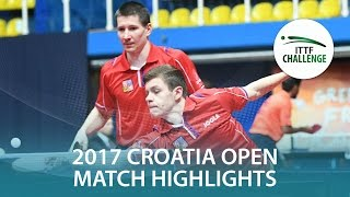 【動画】トーマス・コネッチニー・POLANSKY Tomas VS BRODD Viktor・NORDBERG Hampus 2017 ITTFチャレンジ、ザグレブオープン 決勝
