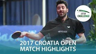 【動画】パナギオティス・ギオニス VS グロート・ジョナサン 2017 ITTFチャレンジ、ザグレブオープン 準決勝