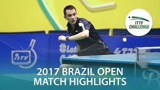 【動画】カルデラノ VS TSUBOI Gustavo シーマスター2017 ITTFチャレンジ、シーマスターブラジルオープン 準決勝