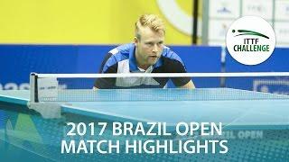 【動画】マツモト・カズオ VS FLORITZ Philipp シーマスター2017 ITTFチャレンジ、シーマスターブラジルオープン ベスト16