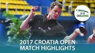 【動画】グロート・ジョナサン VS ガナナセカラン 2017 ITTFチャレンジ、ザグレブオープン ベスト16