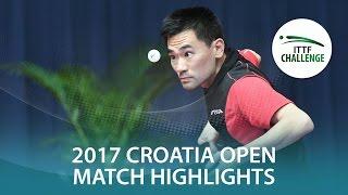 【動画】HABESOHN Daniel VS コウ・レイ 2017 ITTFチャレンジ、ザグレブオープン ベスト32
