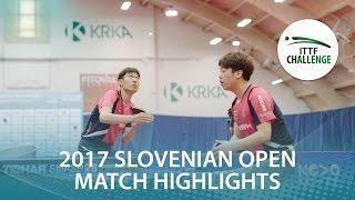 【動画】CHOI Wonjin・李廷祐 VS ECSEKI Nandor・アダム・シューディー 2017 ITTFチャレンジ、スロベニアオープン 決勝