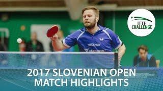 【動画】PERSSON Jon VS TREGLER Tomas 2017 ITTFチャレンジ、スロベニアオープン 準決勝