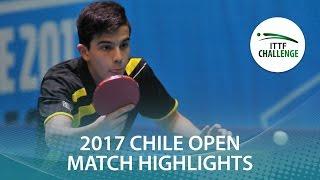【動画】CIFUENTES Horacio VS FERNANDEZ Marcelo シーマスター2017 ITTFチャレンジ、シーマスターチリオープン