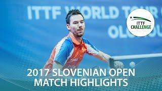 【動画】TREGLER Tomas VS DARCIS Thibaut 2017 ITTFチャレンジ、スロベニアオープン