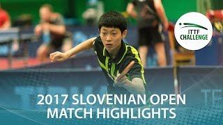 【動画】CHO Daeseong VS LUSHNIKOV Volodymyr 2017 ITTFチャレンジ、スロベニアオープン