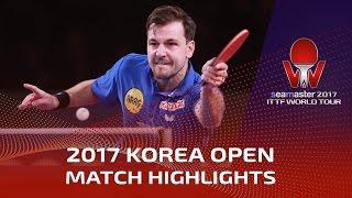 【動画】ティモ・ボル VS パトリック・フランチスカ シーマスター2017 韓国オープン 決勝
