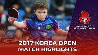 【動画】フォン・ティエンウェイ VS 陳思羽 シーマスター2017 韓国オープン 準決勝