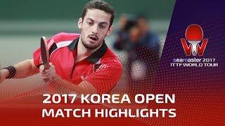 【動画】LIM Jonghoon VS マルコス・フレイタス シーマスター2017 韓国オープン 準々決勝