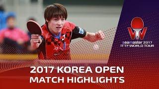 【動画】ティモ・ボル VS 松平健太 シーマスター2017 韓国オープン 準々決勝
