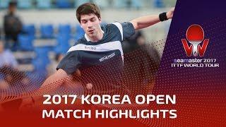 【動画】丹羽孝希 VS パトリック・フランチスカ シーマスター2017 韓国オープン ベスト16