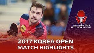 【動画】ティモ・ボル VS ガオニン シーマスター2017 韓国オープン ベスト16