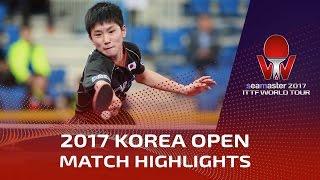 【動画】LIM Jonghoon VS 張本智和 シーマスター2017 韓国オープン ベスト32