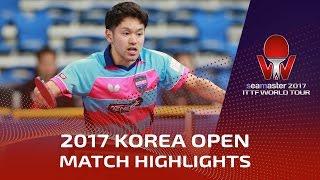【動画】及川瑞基 VS 丁祥恩 シーマスター2017 韓国オープン ベスト64