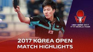 【動画】安 宰賢 VS WANG Tai-Wei シーマスター2017 韓国オープン ベスト32