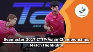 【動画】朱雨玲・陳夢 VS 王曼昱・CHEN Ke 2017年ITTF  - アジア選手権 決勝