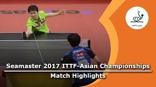 【動画】丹羽孝希 VS 丁祥恩 2017年ITTF  - アジア選手権 準決勝