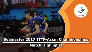【動画】樊振東・LIN Gaoyuan VS 丹羽孝希・吉村真晴 2017年ITTF  - アジア選手権 準決勝
