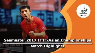 【動画】張継科 VS 大島祐哉 2017年ITTF  - アジア選手権 ベスト16