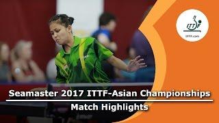 【動画】武楊 VS OKTARIYANI Novita 2017年ITTF  - アジア選手権 ベスト64