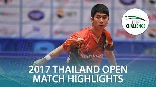 【動画】ガオニン VS 姜動洙 2017年ITTFチャレンジ、タイオープン 準決勝