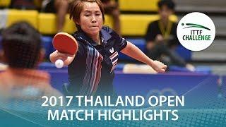 【動画】ZENG Jian VS KOMWONG Nanthana 2017年ITTFチャレンジ、タイオープン ベスト16