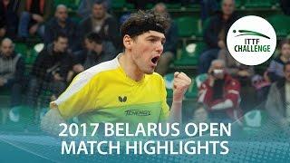 【動画】VLASOV Grigory VS 王増翠 2017年ITTFチャレンジ、Belgosstrakhベラルーシオープン 準決勝
