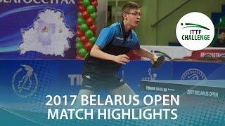 【動画】BERTRAND Irvin VS IVONIN Denis 2017年ITTFチャレンジ、Belgosstrakhベラルーシオープン