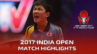 【動画】張本智和 VS ロブレス シーマスター2017 インドオープン ベスト32
