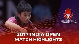 【動画】張本智和 VS LAM Siu Hang シーマスター2017 インドオープン 準決勝