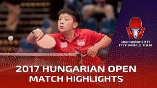 【動画】ZENG Jian VS リン・イエ シーマスター2017 ハンガリーオープン 決勝