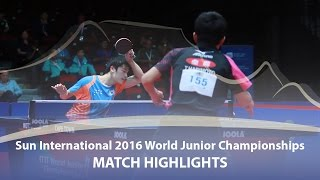 【動画】趙勝敏 VS 張本智和 日・インターナショナル2016世界ジュニア卓球選手権大会 決勝