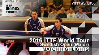 【動画】カルデラノ・TSUBOI Gustavo VS HACHARD Antoine・ステファン・ウォシュ 2016年スウェーデン・オープン 決勝