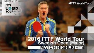 【動画】M.カールソン VS ドミトリ・オフチャロフ 2016年スウェーデン・オープン 準決勝
